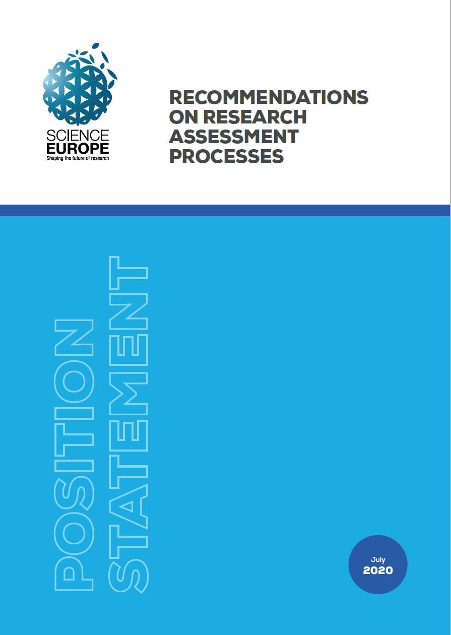 Recommendations on Research Assessment Proceses (Science Europe)